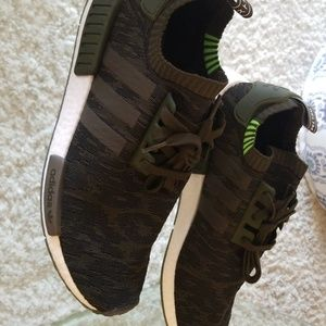 Adidas NMD Primeknit Green Never Worn NO BOX